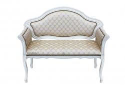 Sofá de madera laqueado blanco
