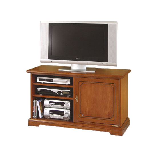 Mueble de tv en madera con vanos y puerta vitrina prixdoo - Mueble para tv con puertas ...