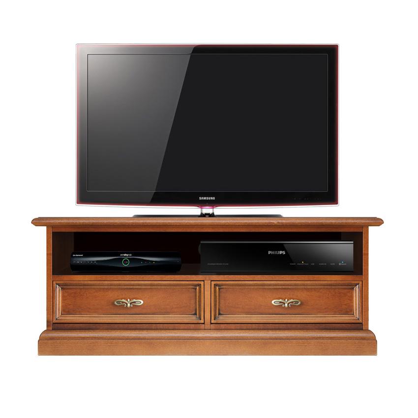 Mueble tv ancho vano soundbar en madera prixdoo for Mueble 55 cm ancho