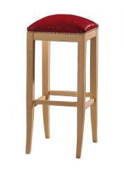 Taburete de bar madera de haya asiento acolchado