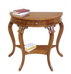 mesa consola, consola de madera, consola de recibidor, consola media luna, Arteferretto
