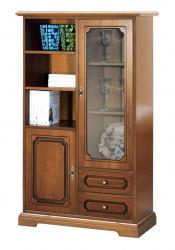 mueble vitrina, mueble de madera, vitrina modular, mueble de salón, mueble Arteferretto, mueble de estilo clásico