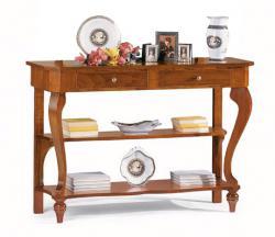 mesa consola de madera, mesa consola, consola de recibidor, mesa con estantes, Arteferretto
