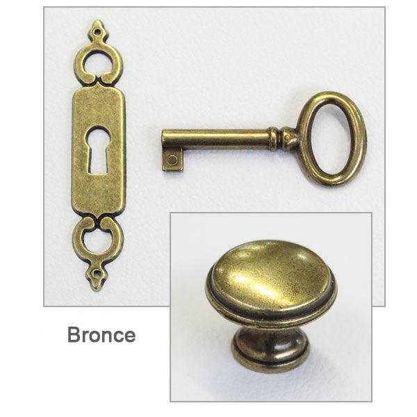 bronce, herrajes bronceados
