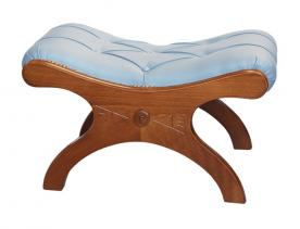 Taburete de madera asiento abotonado