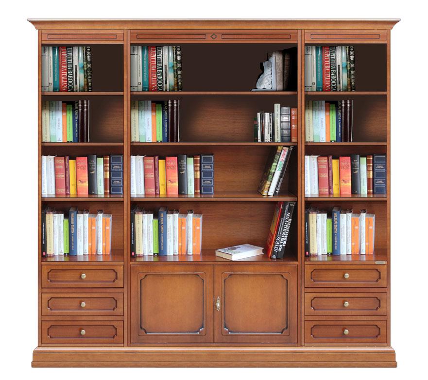 Mueble librer a de pared para sal n de estilo cl sico for Mueble libreria salon