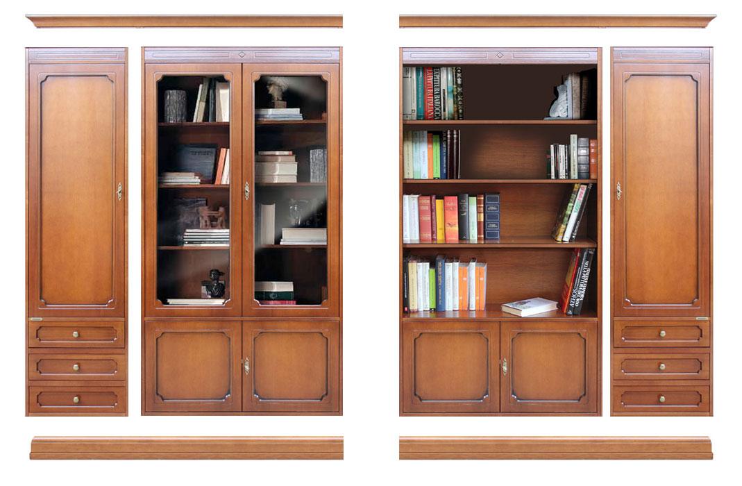 Mueble de pared vitrina vano abierto y puertas top for Mueble vitrina