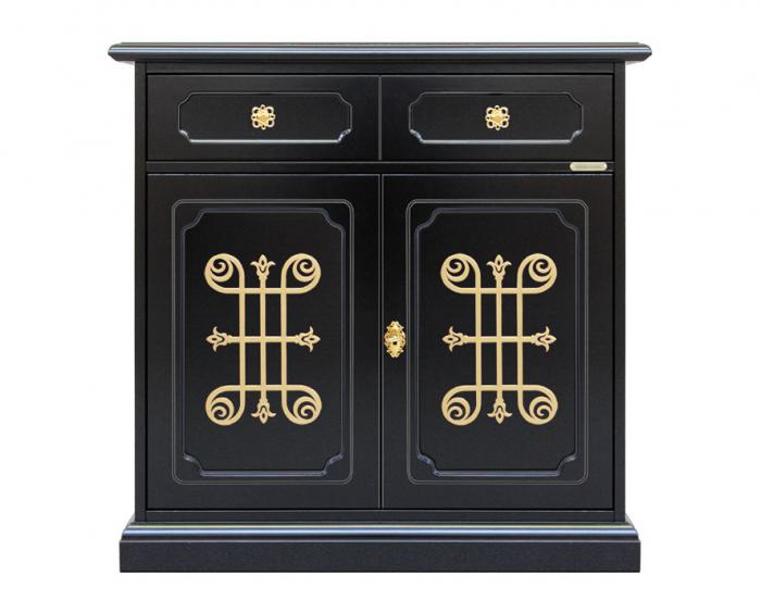 Aparador, mueble de salón, mueble clasico, mueble de madera, mueble negro,