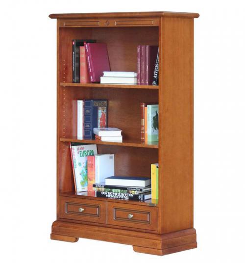Librería en madera 2 estantes ajustables estilo clásico