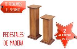 pedestal de madera para macete