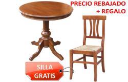 mesa redonda + silla