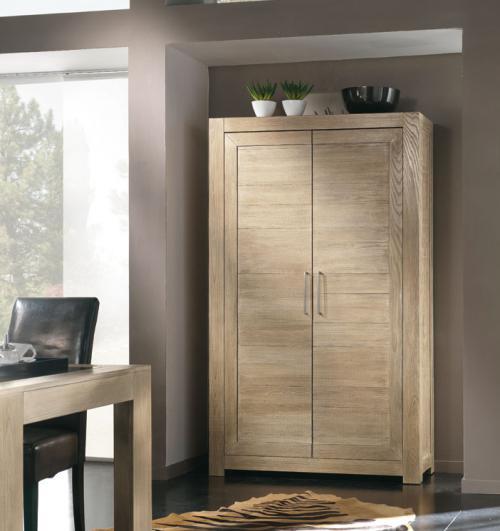 Armario madera natural para salón despacho o pasillo
