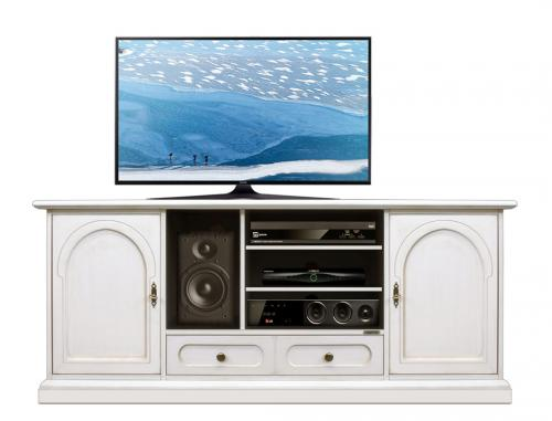 mueble de tv, mueble de salón, mueble de estilo clásico, mueble blanco,
