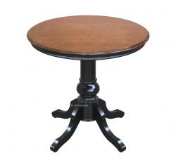mesa redonda bicolor, mesa clásica 80 cm, mesa redonda, mesa de comedor, mesita de comedor, mesa de salón, mesa bicolor