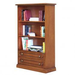 librería de madera, librería dos cajones, estantería con cajones, librería de oficina, Librería por salón