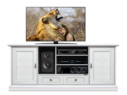 mueble de tv con frisos, mueble de salón, mueble tv. mueble de madera, mueble blanco