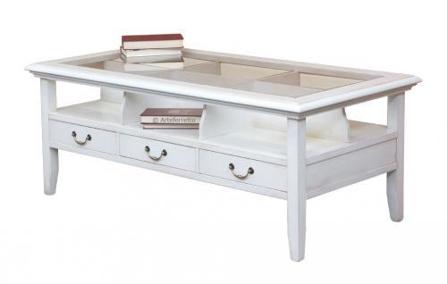 mesa de centro, mesa de centro rectangular, mesa de madera, mesa de centro blanca, mesa de centro con cajones, mesita rectangular, Arteferretto