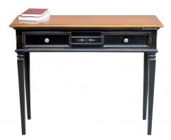 Consola bicolor, mueble consola, consola de madera, consola negra y cerezo, consola clásica, Arteferretto