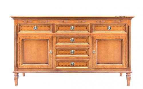 aparador, aparador de madera, aparador con marqueterias, aparador estilo clásico, mueble de salón, aparador por cuarto de estár, Arteferretto