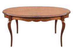 mesa ovalada, mesa de comedor, mesa extensible, mesa de madera, mesa de madera de haya, mesa clásica, Arteferretto, muebles de comedor