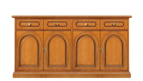 Aparador de comedor, mueble de salón, mueble de madera, comedor de madera, Arteferretto