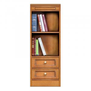 estantería, mueble bajo, Módulo librería con 2 cajones, librería modular, librería pequeño tamaño