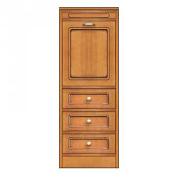 Aparador modular estrecho 1 puerta 3 cajones, mueble modular, meuble aparador pequeño tamaño, arteferretto
