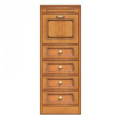 Mueble con 4 cajones y puerta, aparador estrecho, aparador modular con cajones, mueble modular pequeño tamaño