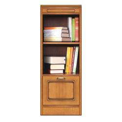 Pequeña estantería, Mueble de madera, librería pequeña, mueble de estilo clásico, Arteferretto