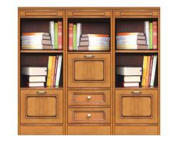estantería de madera, estantería con puertas, mueble de madera, Librería, mueble de comedor, aparador, Arteferretto