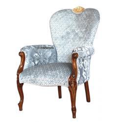 sillón tapizado, sillón clásico, mueble clásico, sillón de madera, Arteferretto
