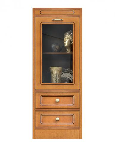 módulo vitrina con cajones, vitrina baja, mueble de oficina, mueble de salón, vitrina de madera, Arteferretto