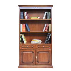 librería alta de madera, mueble de salón, estantería, librería de oficina, Arteferretto