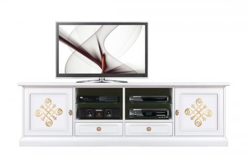 mueble de tv, mueble tv de madera, mueble de salón, mueble tv estilo clásico, Arteferretto