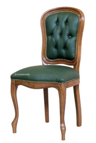 Silla de comedor, silla tapizada,silla de estilo clásico, mueble de comedor