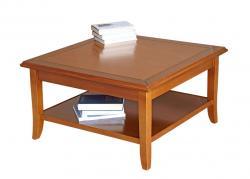 mesa de centro cuadrada, mesa de centro en madera, mesa de centro clásica