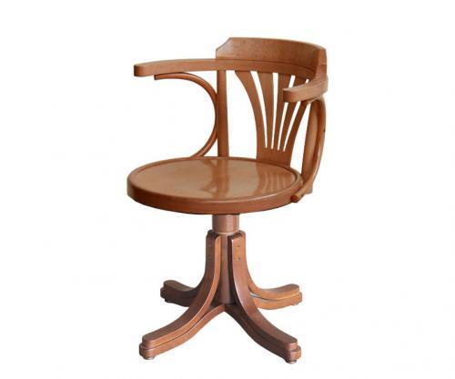 silla giratoria, madera, silla de madera, sillón giratorio, silla de oficina,
