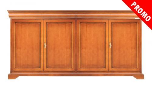 aparador de madera, mueble de salón, aparador 4 puertas, aparador de comedor, aparador estilo clásico, mueble de Arteferretto