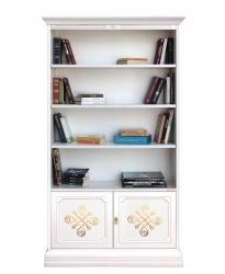 librería alta decorada, librería de madera, librería decorada, mueble librería, estantería de oficina, librería de salón, mueble de cuarto de estar, librería con puertas, mueble Arteferretto