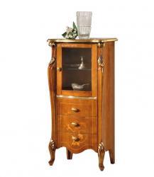vitrina incrustada, mueble vitrina, vitrina de estilo clásico, mueble de salón, vitrina de madera, vitrina con marqueterías