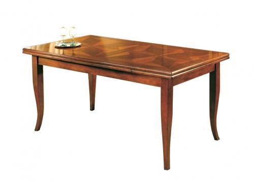mesa rectangular, mesa rectangular incrustada, mesa de comedor, mesa clásica, mesa con marqueterías