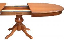 mesa extensible ovalada, mesa de comedor, mesa 160 cm, mesa de madera, mesa de comedor estilo clásico