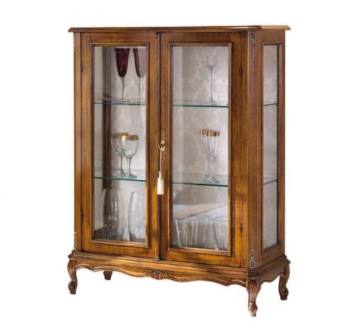 vitrina clásica de comedor, vitrina de madera, vitrina de estilo, mueble clásico de salón