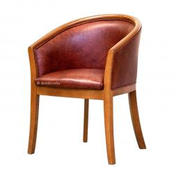 Butaca de madera, butaca diseño italiano, butaca tapizada, mueble de salón