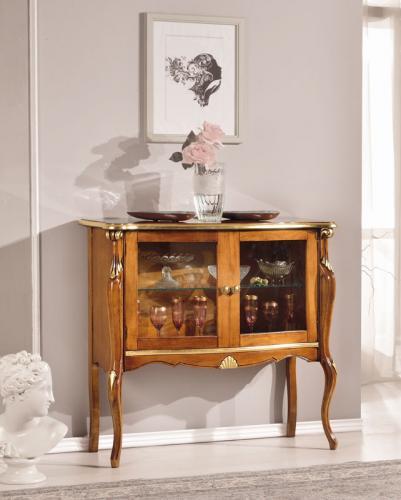 vitrina de comedor, vitrina con decoraciones, mueble de vitrina, vitrina clásica