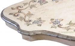 mesita de centro decorada, mesa de centro, mesita de salón, mesa de centro de madera lacada, mesita estilo clásico
