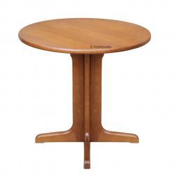 mesita redonda de cuarto de estar, mesita 80 cm de díametro, mesita redonda de madera