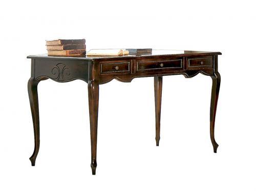 escritorio nogal envejecido, escritorio estilo clásico, escritorio de oficina, mesa de despacho, mueble de oficina estilo clásico