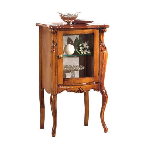 vitrina elegante, vitrina de madera, vitrina pequeña, vitrina estilo clásico