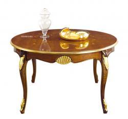 mesa redonda extensible, mesa redonda con marquetería, mesa clásica, mesa redonda de comedor, mesa de madera, mesa artesanal